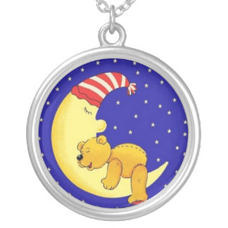 Sleepytime Bear Silver Plated Necklace