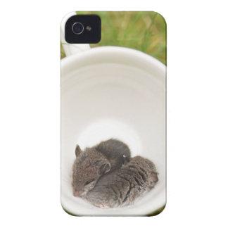 Sleepytime Cute Baby Mice iPhone 4 Covers