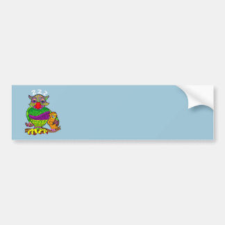 Sleepytime Owl and Baby Bumper Sticker