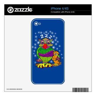 Sleepytime Owl and Baby Decals For iPhone 4S