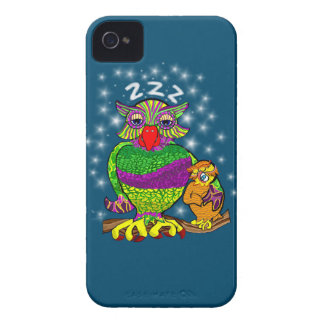Sleepytime Owl and Baby iPhone 4 Cover