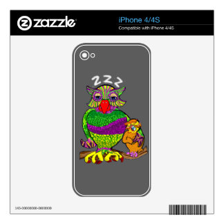 Sleepytime Owl and Baby Skin For iPhone 4S