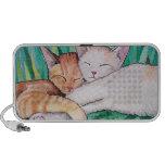 Sleepytime Tabby Cats Doodle Speaker