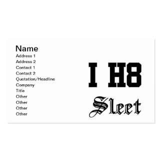 sleet Double-Sided standard business cards (Pack of 100)