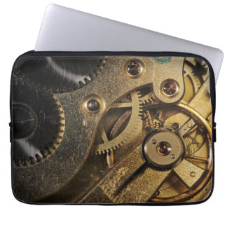 Sleeve: Brass Hearted. Watch Mechanism Laptop Sleeve