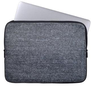 Sleeve: Gray Tweed Fabric Computer Sleeve