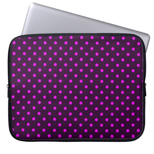 Sleeve Laptop Hot Pink and Violet Polka Dot Computer Sleeve