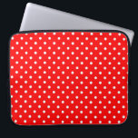 "Sleeve Laptop Hot Red Polka Dot<br><div class=""desc"">Illustration Pattern Background Hot Red Polka Dot 