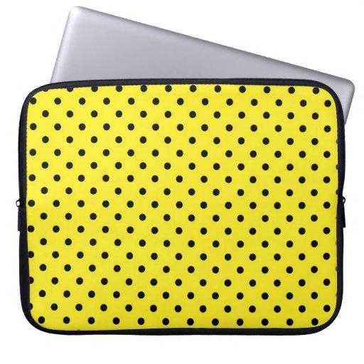 Sleeve Laptop Hot Yellow Polka Dot Laptop Sleeve
