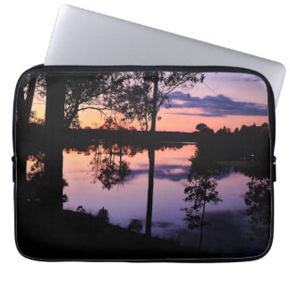 Sleeve: Twilight by the lake Laptop Computer Sleeve
