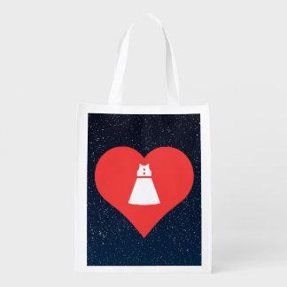 Sleeveless Dresses Symbol Reusable Grocery Bag