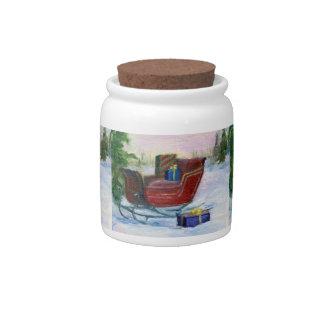 Sleigh ACEO Candy Jar