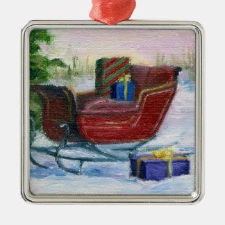 Sleigh ACEO Ornament