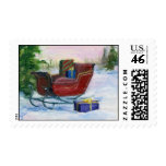 Sleigh ACEO Postage Stamp