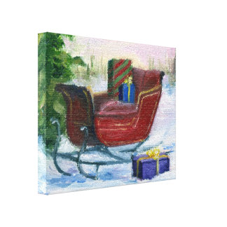 Sleigh ACEO Wrapped Canvas