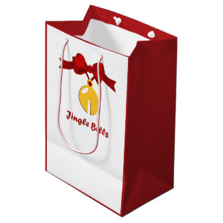 Sleigh Bell Jingle Bells Christmas MGB Medium Gift Bag