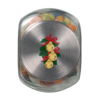 Sleigh Bells Glass Jar
