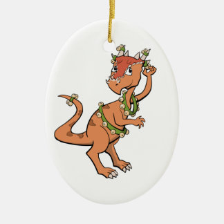Sleigh Bells Dinosaur Ornament