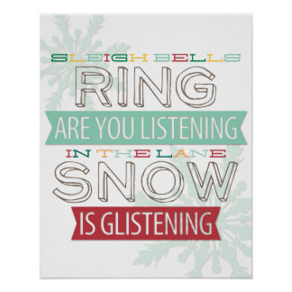 Sleigh Bells Holiday Print