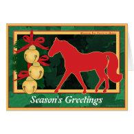 Sleigh Bells Missouri Fox Trotter Horse Christmas Card