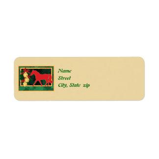 Sleigh Bells Missouri Fox Trotting Horse Christmas Label