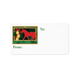 Sleigh Bells MIssouri Fox Trotting Horse Gift Tag Label