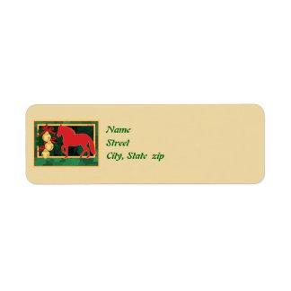 Sleigh Bells Paso Fino Christmas Label