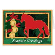 Sleigh Bells Paso Fino Horse Christmas Cards