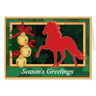 Sleigh Bells Peruvian Paso Horse Christmas Cards