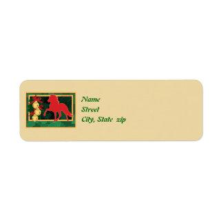 Sleigh Bells Peruvian Paso Horse Christmas Label