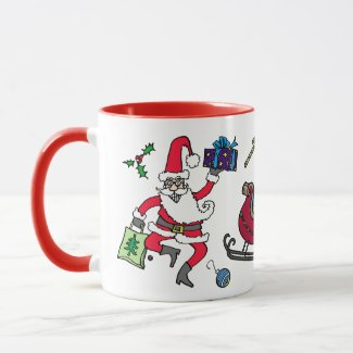 """Sleigh Bells Ring"" Ceramic Christmas Mug"