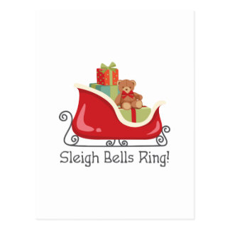 Sleigh Bells Ring Postcard