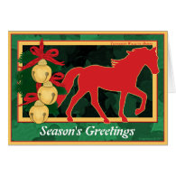 Sleigh Bells Tennessee Walking Horse Christmas Cards