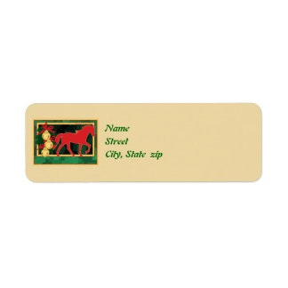 Sleigh Bells Tennessee Walking Horse Christmas Label