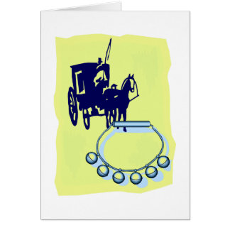 Sleigh Bells With Amish Buggy Musical Graphic Card