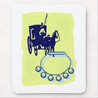 Sleigh Bells With Amish Buggy Musical Graphic Mouse Pad