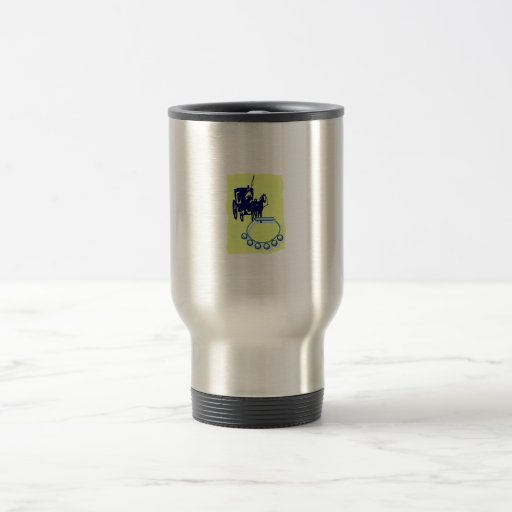 Sleigh Bells With Amish Buggy Musical Graphic 15 Oz Stainless Steel Travel Mug