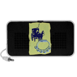 Sleigh Bells With Amish Buggy Musical Graphic Notebook Speaker