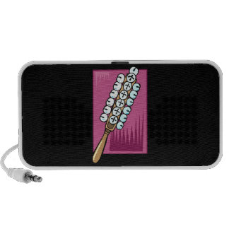 Sleigh Bells with Pink Background iPod Speaker