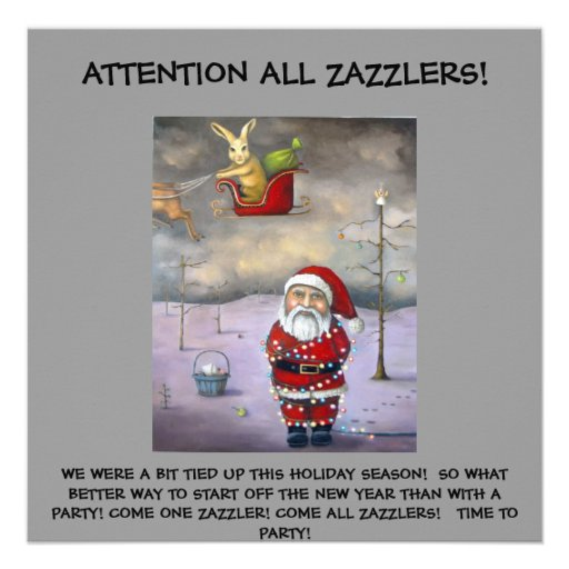 Sleigh Jacker, ATTENTION ALL ZAZZLERS!, WE WERE... Announcement