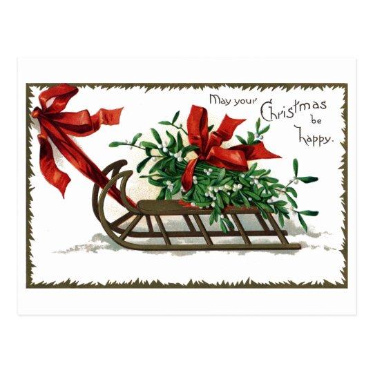 Sleigh Load of Mistletoe Postcard