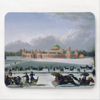 Sleigh Race at the Petrovsky Park in Moscow Mouse Pad