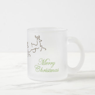 Sleigh & Reindeer Frosted Coffee Cup
