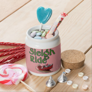 Sleigh Ride Candy Jar