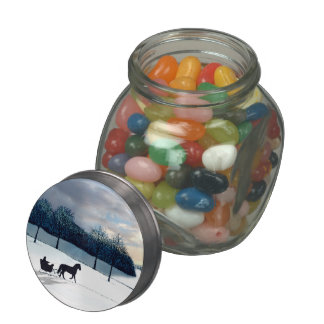 Sleigh Ride Jelly Belly Candy Jars