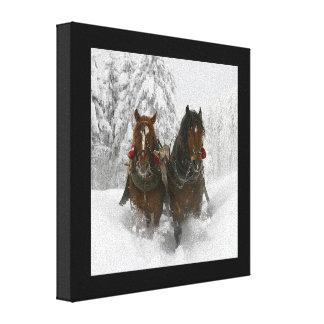 Sleigh Ride Canvas Prints