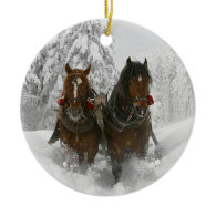 Sleigh Ride Christmas Tree Ornament