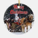 Sleigh Ride Christmas Tree Ornaments