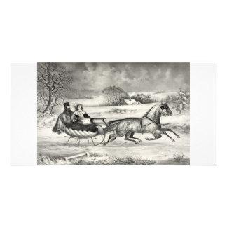 Sleigh Ride collector photo cards