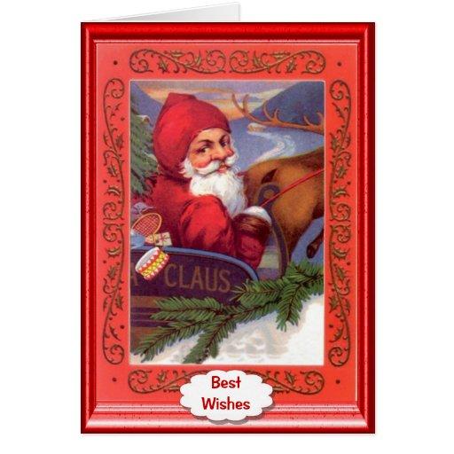 Sleigh ride for Santa Greeting Card